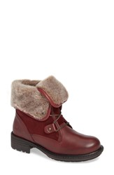 Bos. And Co. Springfield Waterproof Winter Boot Red Leather