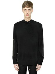 Givenchy Wool Sweater With Leather Elbow Patches