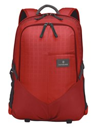 Victorinox Deluxe Padded Nylon Laptop Backpack Red