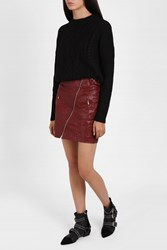 Isabel Marant Women S Futurist Crinkle Skirt Boutique1 Red