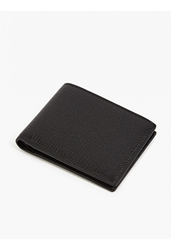Jil Sander Men's Black Grained Leather Wallet