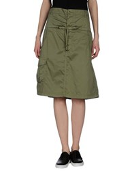 Trussardi Jeans Skirts Knee Length Skirts Women Military Green