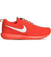 Nike Roshe Run Flyknit Trainers Bright Crimson White