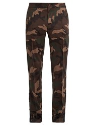 Valentino Side Stripe Camouflage Print Cady Track Pants
