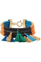 Isabel Marant Tasseled Cotton Bracelet Orange
