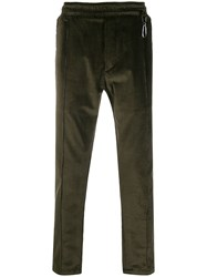 Low Brand Slim Fit Corduroy Chinos Green