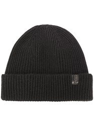 Giorgio Armani Knitted Hat Black