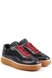 Alexander Wang Sneakers With Leather And Suede Black