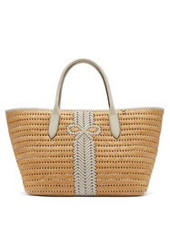 Anya Hindmarch The Neeson Large Straw Basket Bag White Multi