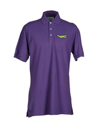 Bronzaji Topwear Polo Shirts Men Purple