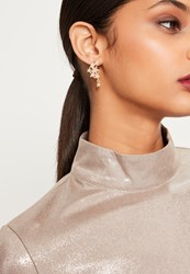 Missguided Gold Diamante Star Cuff Earrings