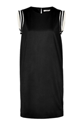 Bouchra Jarrar Jersey Shift Dress With Striped Shoulders