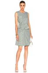 Victoria Beckham Double Knot Dress In Green Stripes White Green Stripes White