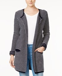 Tommy Hilfiger Taylor Striped Cardigan Only At Macy's Masters Navy