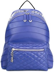 Philipp Plein Quilted Backpack Blue