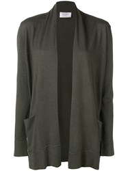 Snobby Sheep Open Front Fitted Cardigan Green