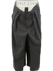 Moohong Deconstructed Panelled Trousers Grey