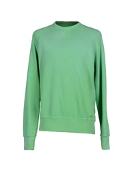Franklin And Marshall Sweatshirts Light Green