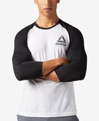 Reebok Men's Logo Baseball Shirt White Black