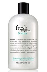 Philosophy Fresh Cream And Mint Shampoo Shower Gel And Bubble Bath