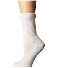 Thorlos Health Padds Crew Single Pair White Women's Crew Cut Socks Shoes