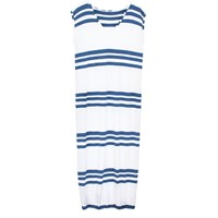 Monorails And Satellites Renee Trio Navy Stripe Maxi Beach Dress