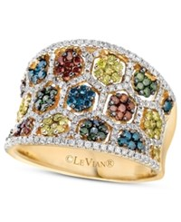 Le Vian Mixberry Diamond Concave Ring 1 3 8 Ct. T.W. In 14K Honey Gold Yellow Gold