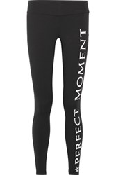Perfect Moment Printed Stretch Leggings Black