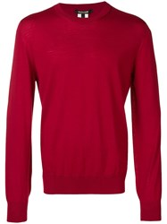 Roberto Cavalli Relaxed Fit Jumper Red