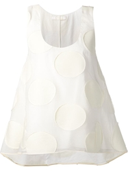 Chloe Chloe Embossed Sleeveless Top White