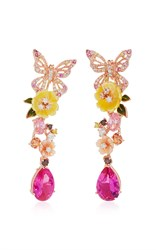 Anabela Chan M'o Exclusive Rose Vine Earrings Pink