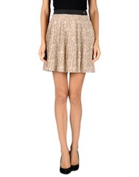 Scee By Twin Set Mini Skirts Beige
