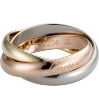 Cartier Trinity De 18Ct White Gold Yellow Gold And Pink Gold Medium Ring