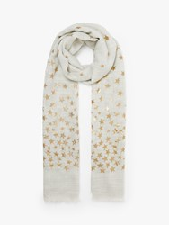 John Lewis Collection Weekend By Twinkle Foil Wool And Silk Scarf Grey Mix