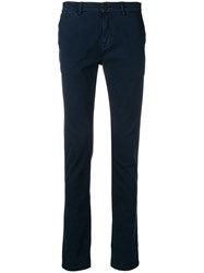 7 For All Mankind Slim Fit Chinos Blue