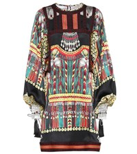 Etro Printed Silk Mini Dress Multicoloured