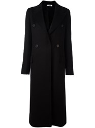 Jil Sander Double Breasted Coat Black
