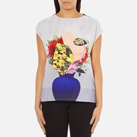 Paul Smith Ps By Women's Floral Vase Pauls Photo T Shirt Multi
