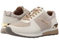 Michael Michael Kors Allie Trainer Natural Hemp Vachetta Buffed Embosssed Python Women's Lace Up Casual Shoes Neutral