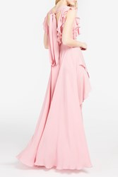 Elie Saab Women S Open Back Ruffled Dress Boutique1 Pink