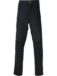 Y Project Suede Trousers Blue