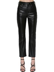 Saint Laurent Slim Leather Pants Black