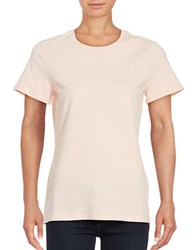 Lord And Taylor Plus Short Sleeve Crewneck Tee Orange