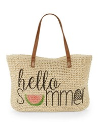 Straw Studios Beach Tote Hello Summer