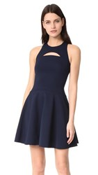 Cushnie Et Ochs Monica Sleeveless Flare Dress Navy