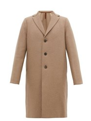 Harris Wharf London Single Breasted Wool Overcoat Camel