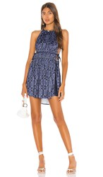 Free People Mid Summers Day Dress In Blue. Blue Combo