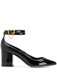 Valentino Garavani Double Ankle Strap Pumps Black