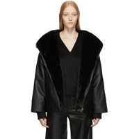 Toteme Reversible Black Leather Annecy Jacket
