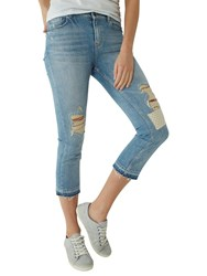 Fat Face Straight Leg Crop Jeans Denim